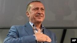 Реджеп Тайип Эрдоган. Стамбул. Турция. 16 июля 2016 г.