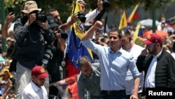 Juan Guaidó, presidente interino de Venezuela y líder de la Asamblea Nacional en la oposición.