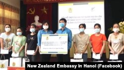 New Zealand's financial support for 420 female workers from factories in Bac Giang and Bac Ninh on June 28, 2021.
