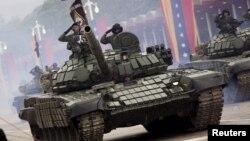 Tanques de fabricación rusa como los del ejército de Venezuela han sido comprados por el gobierno sandinista de Nicaragua.