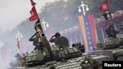 Tanques de fabricación rusa como los del ejército de Venezuela han sido comprados por el gobierno sandinista de Nicaragua. [Foto: Archivo/2015]