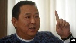 前漢龍集團董事長、四川富豪劉漢。(2011年1月16日資料照)