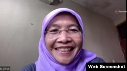 Komisioner Komnas Perempuan, Maria Ulfah Anshor dalam sebuah diskusi daring
