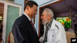 卡斯特罗与中国国家主席习近平