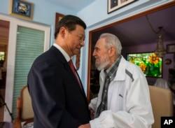 卡斯特羅與中國國家主席習近平