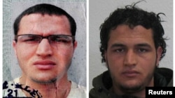 Anis Amri is shown in handout pictures from the German Bundeskriminalamt Federal Crime Office, released Dec. 21, 2016. The main suspect in a truck attack on a Christmas market in Berlin, Amri was killed last Friday in shootout with police in Milan, Italy.