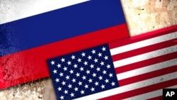 성조기(아래)와 러시아 국기.