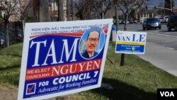 Bầu cử nghị viên Khu vực 7 ở San Jose sôi nổi vì có nhiều ứng viên gốc Việt. (Ảnh: Bùi Văn Phú)