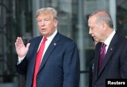 도널드 트럼프 미국 대통령과 레제프 타이이프 에르도안 터키 대통령.
