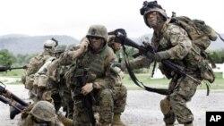 """美国和泰国举行年度""""金色眼镜蛇""""联合军演 (资料照片)"""