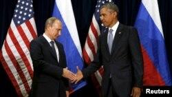 ປະທານາທິບໍດີ ສະຫະລັດ ທ່ານ Barack Obama ພົບປະກັບ ປະທານາທິບໍດີ Vladimir Putin ທີ່ກອງປະຊຸມ ສະມັດຊາໃຫຍ່ ສະຫະປະຊາຊາດ ທີ່ນະຄອນ New York.
