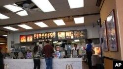 华盛顿一家麦当劳快餐店内