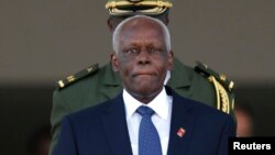 Jose Eduardo dos, le président de l'Angola