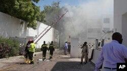 Mesto bombaškog napada u Mogadišu, u Somaliji