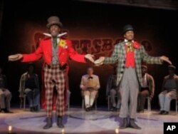 'The Scottsboro Boys' tells its story as a minstrel show - a popular entertainment from the 19th century that featured white performers, and sometimes black ones, in blackface makeup.