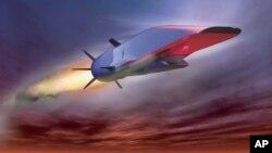«Ուեյվրայդեռ» («Waverider», թարգմանաբար՝ «Ալիքների հեծյալ») անվանումը կրող գերձայնային օդանավի պատկերը