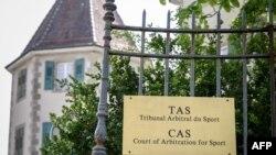 Le siège du Tribunal arbitral du sport à Lausanne, Suisse, le 1er mai 2019