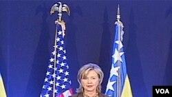 Hillary Clinton prilikom otvaranja kompleksa ambasade BiH u Sarajevu