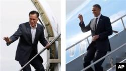 Presiden Amerika Barack Obama dan penantangnya dari Partai Republik, Mitt Romney, bersiap melakukan debat pertama calon presiden dengan topik ekonomi, layanan kesehatan dan peran pemerintah (foto: 29/9/2012).