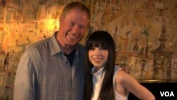 Larry London and Carly Rae Jepsen