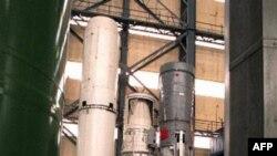 Советские-российские баллистические ракеты. Слева направо: СС-18, СС-17, СС-19 и СС-20. Центр подготовки ракетчиков в Балабаново. Россия. Апрель 1997 года