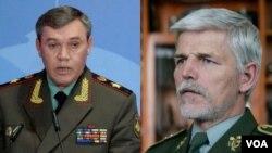 Generallar Valeri Gerasimov və Petr Pavel