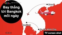 Screen shot of erroneous map that aired on reality TV Show. (Photo: VOA Vietnamese service)