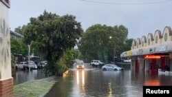 Banjir di Byron Bay, New South Wales, Australia, 7 Februari 2020. (Foto: videograb/Ballina Surf/via REUTERS).