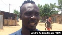 Aléva Ndavogo Jude, directeur artistique de Tchad-Star, le 30 juillet 2019. (VOA/André Kodmadjingar)