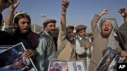 지난 2월 파키스탄 이슬라마바드에서 미군의 무인기 공격에 항의하며 벌어진 시위. (자료 사진)