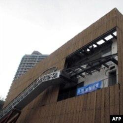 正在修建之中的上海世博马德里案例馆