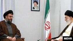 دیدار حسن نصرالله دبیرکل حزب الله لبنان با آیت الله علی خامنه ای رهبر جمهوری اسلامی ایران در تهران - مرداد 1384