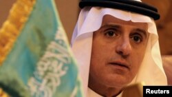 FILE - Saudi Foreign Minister Adel al-Jubeir. Jubeir said he is optimistic that U.S.-Saudi cooperation can overcome challenges in the Middle East.