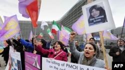 Протесты в Бельгии в поддержку Сакине Аштиани
