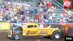 Tractor pulling is an increasingly popular sport in America