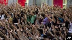 馬德里民眾示威。