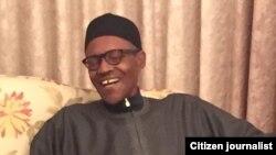 Le président nigérian Muhammadu Buhari à Londres, 15 février 2017.