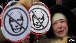 Demo anti-Putin terus marak di Moskow meskipun temperatur menunjukkan kisaran minus 20 derajat Celcius (4/2).