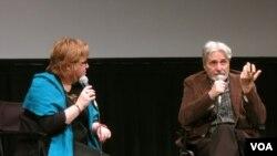 Мирча Данелюк отвечает на вопросы зрителей. Photo: Oleg Sulkin