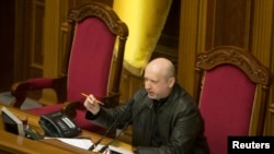 Presiden sementara Ukraina Oleksander Turchynov (Foto: dok).