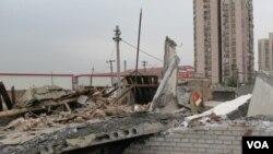 Dampak tanah longsor di Zhouqu, Tiongkok, provinsi Gansu.