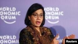 Menteri Keuangan Sri Mulyani saat menghadiri Forum Ekonomi Dunia di Hanoi, Vietnam, 12 September 2018.