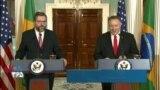 نسخه کامل کنفرانس خبری وزرای خارجه آمریکا و برزیل