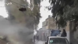 敘政府軍轟炸大馬士革的反叛武裝