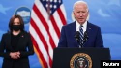 Predsjednik Joe Biden sa potpredsjednicom Kamalom Harris, Mart 29, 2021.