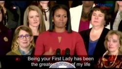 Michelle Obama's Last Official Speech as First Lady