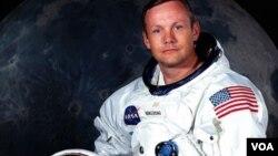 美国前宇航员尼尔.阿姆斯特朗(资料照片)