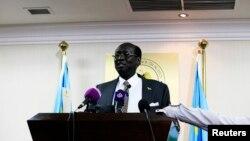 Waziri wa mambo ya nje wa Sudan Kusini, Barnaba Marial Benjamin.