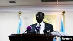 FILE - South Sudan Foreign Minister Barnaba Marial Benjamin.