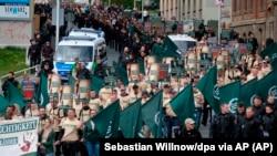 Plauen'de Üçüncü Yol'un düzenlediği yürüyüş. (1 Mayıs 2019)